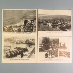 POCHETTE DE 8 PHOTOS DES ACTUALITES ALLEMANDES 12-5-1941 AKTUELLER BILDERDIENST AFRIKACORPS SS EN GRECE MARINE