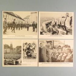 POCHETTE DE 8 PHOTOS DES ACTUALITES ALLEMANDES 20-5-1941 AKTUELLER BILDERDIENST MARINE AVIATION BULGARIE CROATIE