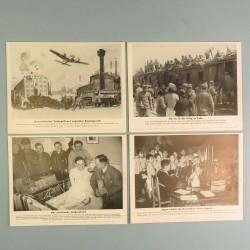 POCHETTE DE 8 PHOTOS DES ACTUALITES ALLEMANDES 15-5-1941 AKTUELLER BILDERDIENST SS EN GRECE PRISONNIER JAPON