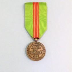 LIBERIA MEDAILLE DU MERITE NATIONAL 1920 RUBAN VERT ET ROUGE °