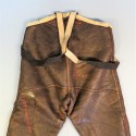 PANTALON US DE PILOTE OU DE VOL TYPE B1 EN CUIR DE MOUTON RETOURNE DATE 1942 FLYING TROUSERS