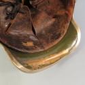 CASQUE A BROSSE DE GENDARME A PIED TOUPE OU SOUS-OFFICIER MODELE 1912 GENDARMERIE TROISIEME REPUBLIQUE