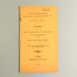 MANUEL NOTICE TECHNIQUE SUR LES ARTIFICES A SIGNAUX ET ECLAIRANTS ET LEURS ENGINS DE LANCEMENT DATEE 1917