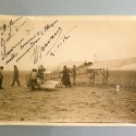 AUTOGRAPHE DEDICACE AVIATION FEMME PILOTE AVIATRICE JANE HERVEUX JANNE ALICE HERVEUX 1912 PHOTO DE PRESSE MEURISSE