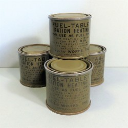 LOT DE 4 RATIONS INDIVIDUELLES D'ALCOOL SOLIDE POUR RECHAUD COLMAN US WW2 FUEL TABLET
