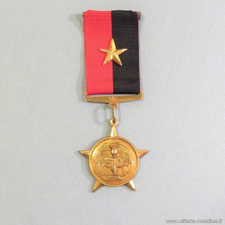 ANGOLA MEDAILLE COMMEMORATIVE DES 50 ANS DU MPLA 50 YEARS OF MPLA MEDAL °
