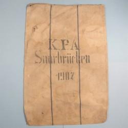 SAC ALLEMAND DE TRANSPORT DE VIVRES KPA SAARBRUCHEN DATE 1907 GUERRE 1914 1918