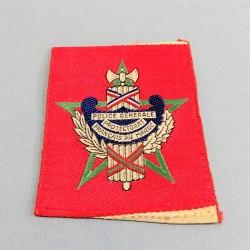 INSIGNE TISSU DE LA POLICE GENERALE DU PROTECTORAT FRANCAIS DU MAROC 1912-1955 °