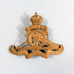 INSIGNE ANGLAIS ROYAL REGIMENT OF ARTILLERIE UBIQUE QUO FAS ET GLORIA DUCUNT SECONDE GUERRE ARTILLERY BADGE WW2