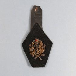 INSIGNE TISSU PATTE DE COL MODELE 1939 D'UN OFFICIER PHARMACIEN MILITAIRE MEDECIN SERVICE DE SANTE FABRICATION ATISANAL