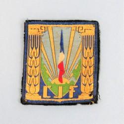 INSIGNE TISSU DES CHANTIERS DE JEUNESSE FRANCAIS CJF MARECHAL PETAIN PERIODE GVT VICHY 1940 - 1944