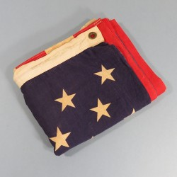 U.S.A. DRAPEAU US FABRICATION DEBUT ANNEES 1960 CONTINENTAL FLAG 3X5 Ft 50 ETOILES IMPRIMEES 86 X 152 cm