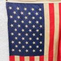 U.S.A. DRAPEAU US FABRICATION DEBUT ANNEES 1960 CONTINENTAL FLAG 3X5 Ft 50 ETOILES IMPRIMEES 86 X 152 cm
