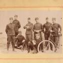 PHOTO MILITAIRE CARTONEE LES OFFICIERS DU 135 REGIMENT D'INFANTERIE DE LIGNE VERS 1900 1914
