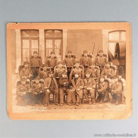 PHOTO MILITAIRE 1900 SECTION COMPAGNIE DU 99 ème REGIMENT D'INFANTERIE OU RIA INFANTERIE ALPINE
