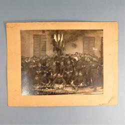 GRANDE PHOTO DU 8 ème ESCADRON DU TRAIN OFFICIERS SOUS OFFICIERS ET BRIGADIERS CAMPAGNE D'ALLEMAGNE 1914