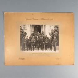 GRANDE PHOTO GUERRE FRANCO ALLEMANDE 1914 1918 OFFICIERS D'ETAT-MAJOR GROUPE 4 DE COMMANDEMENT D'ETAPE