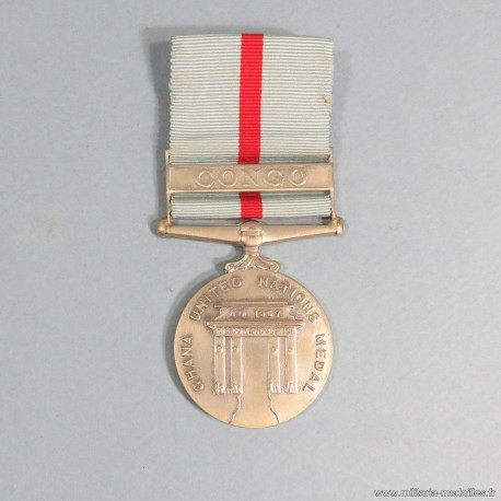 GHANA MEDAILLE DES NATION UNIES POUR L'OPERATION AU CONGO 1960 A 1964 UNITED NATION MEDAL °