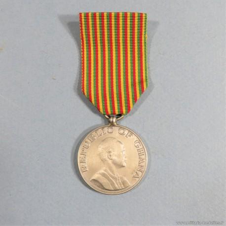 GHANA MEDAILLE POUR LA POLICE JOUR DE LA REPUBLIQUE 1 JUILLET 1960 REPUBLIC DAY MEDAL °
