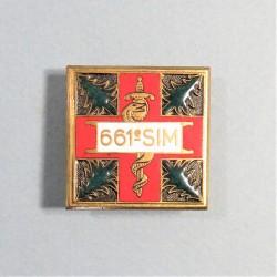 INSIGNE MILITAIRE 661 ème SIM SECTION D'INFIRMIERS MILITAIRES FABRICATION SECONDE GUERRE DRAGO BERANGER