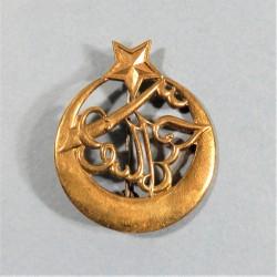 INSIGNE MILITAIRE 3 ème REGIMENT DE TIRAILLEURS ALGERIENS FABRICATION LIBERATION