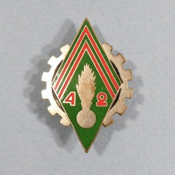INSIGNE MILITAIRE 42 ème COMPAGNIE DE QUARTIE GENERAL FABRICATION OCCUPATION EN AUTRICHE 1945 - 1946