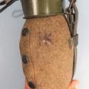 BIDON OU GOURDE ALLEMANDE COMPLETTE 1944 MILITARIA EQUIPEMENT ALLEMAND WW2