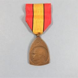 BELGIQUE MEDAILLE COMMEMORATIVE DE LA GRANDE GUERRE 1914-1918 D'ALBERT I er ROI DES BELGES