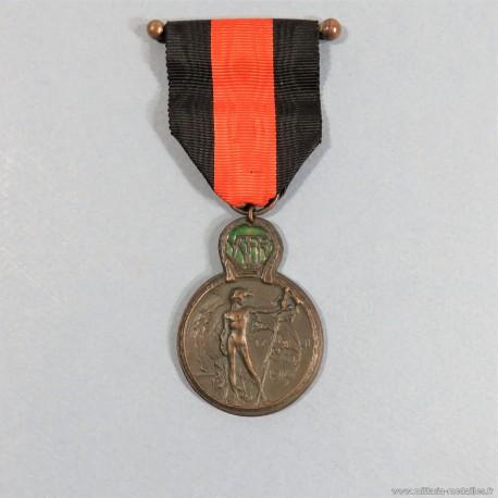 MEDAILLE FRANCO BELGE DES ANCIENS COMBATTANTS DE L'YSER OU ISERE COMBATS DE LA GRANDE GUERRE 1914-1918