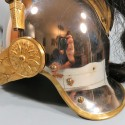 TRES BEAU CASQUE A CRINIERE DE DRAGON MODELE OFFICIER 1874 CAVALERIE FRANCAISE PLUMET TRICOLORE D'ETAT MAJOR