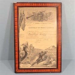 CADRE CERTIFICAT DE BONNE CONDUITE Au 5 ème BATAILLON DE CHASSEURS A PIED DATE 1925