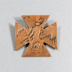 MEDAILLE BROCHE JOURNEE DU POILU 1915 SIGNEE LALIQUE
