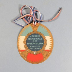INSIGNE DE JOURNEES DES TUBERCULEUX DE NOVEMBRE 1914 1917 INSIGNE OU BADGE DE QUETTEUR QUETTEUSE TAMPONNE DE PARIS