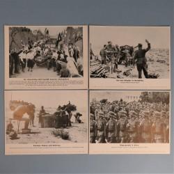 POCHETTE DE 8 PHOTOS DES ACTUALITES ALLEMANDES 8-5-1941 AKTUELLER BILDERDIENST KROATIE SERBIE GRECE AFRIKA KORPS