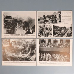 POCHETTE DE 8 PHOTOS DES ACTUALITES ALLEMANDES 5-5-1941 AKTUELLER BILDERDIENST SS GRECE WEHRMACHT OSTFRONT PARTI NAZI