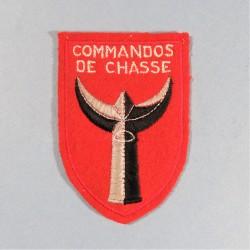 INSIGNE TISSU DES COMMANDOS DE CHASSE EPOQUE GUERRE D'ALGERIE