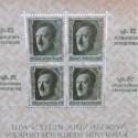 BLOCK FEUILLET DE 4 TIMBRES ALLEMAND III ème REICH ADOLF HITLER 25 RPF NURNBERG 1937 JOUR DU PARTI