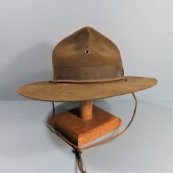 CHAPEAU USMC US MARINES CORPS SERGENT INSTRUCTEUR FABRICATION ANCIENNE 1940 1950