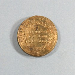 BOUTON ARMEE REVOLUTIONNAIRE MODELE 1790 1792 SUR FOND BOIS GRAND MODULE DIAMETRE 3 cm DISTRICT DE ST HYPPOLIITE (GARD)