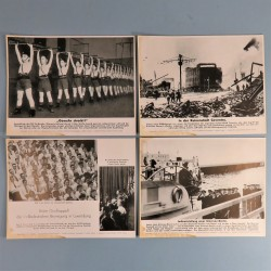 POCHETTE DE 8 PHOTOS DES ACTUALITES ALLEMANDES 9-1-1941 AKTUELLER BILDERDIENST MARINE JEUNESSE ITALIENNE PARTI NAZI