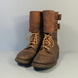 RANGERS ARMEE FRANCAISE BRODEQUINS ANNEES 1960 MODIFIES TAP GUERRE D'ALGERIE TAILLE 39