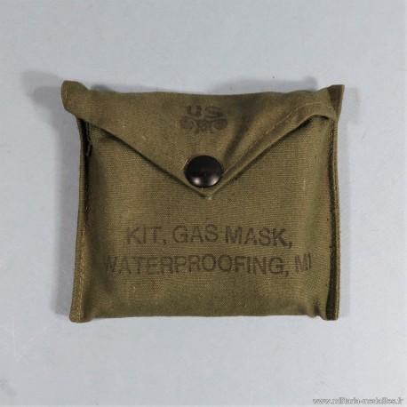 KIT DE REPARATION DE MASQUE A GAZ US WW2 POCHETTE COMPLETTE GAZ MASK WATERPROOFING M1