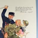 AFFICHE PROPAGANDE DE LA POLICE DE PARIS 1945 LIBERATION WHERMACHT