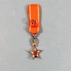 MAROC REDUCTION DE LA MEDAILLE D'OFFICIER DE L'ORDRE DU OUISSAM ALAOUITE WISSAM ORDER OF MAROCCO KNIGHT MEDAL °