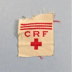 INSIGNE DE GRADE TISSU SERVICE DE SANTE INFIRMIERE AFAT AUXILIAIRES FEMININES DE L'ARMEE DE TERRE 1944 1945 TISSE BEVO