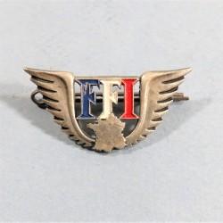 INSIGNE RESISTANCE DES FFI FORCES FRANCAISES DE L'INTERIEUR DE LA RESISTANCE NUMEROTE 48200 FABRICATION ARTHUS BERTRAND