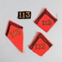 ENSEMBLE DU 113 ème REGIMENT D'ARTILLERIE D'ARTILLERIE LOURDE CHIFFRES DE KEPI ET PATTES DE COLS 1930 1940