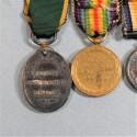 GRANDE BRETAGNE BARRETTE DE 4 REDUCTION D'UN VETERANT DE LA GUERRE 1914 1918 BRITISH WWI MINIATURE MEDAL °
