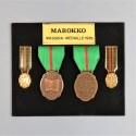 MAROC PLAQUE DE MEDAILLES COMMEMORATIVE DE LA MARCHE VERTE DU 6 AU 9 NOVEMBRE 1975