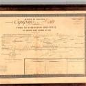CADRE MARINE ET COLONIES TITRE DE LIBERATION EQUIPAGE DE LA FLOTTE ROBERT OUVRIER MECANICIEN EN 1882 A TOULON